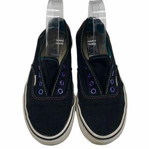 Vans low top laceless slip on black & multi color